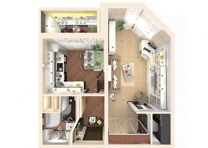 Дизайн квартиры серии копэ парус.
