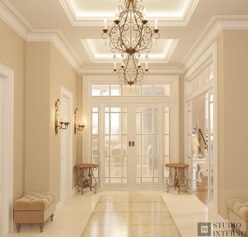 Интерьер коридора в классическом стиле