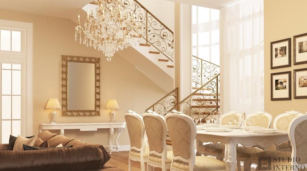 Интерьер квартиры в классическом стиле с элементами арт-деко