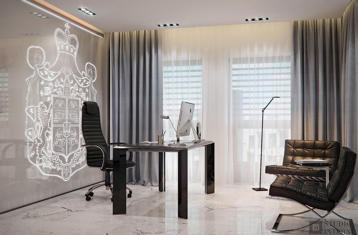 Минимализм в интерьере кабинета