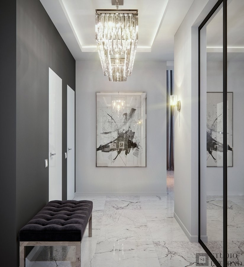Интерьер коридора в стиле минимализм