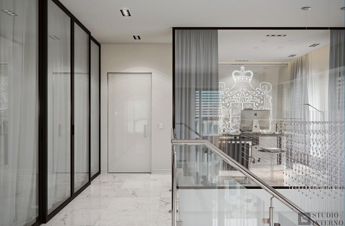 Интерьер холла в стиле современный минимализм